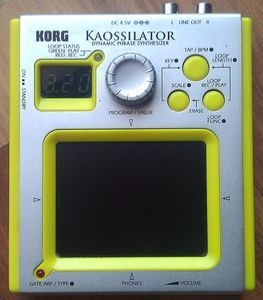 Korg Kaossilator (various colours) -- © bepixelung.org