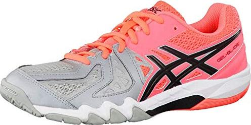 Asics Gel-Blade 5 Badminton-/Squashschuhe flash coral/black/mid grey (Damen) (R556Y-0690)