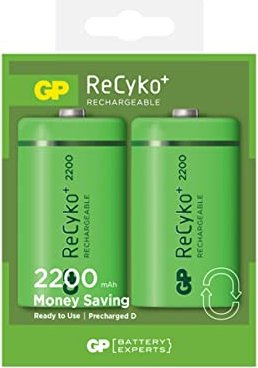 GP Batteries Mono D NiMH rechargeable battery 2200mAh, 2-pack (GP 220DH-UC2) -- via Amazon Partnerprogramm