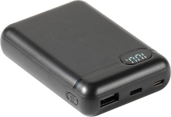 Vivanco Power Bank mit LCD Display und Adapter-Kabel 10000mAh schwarz (60081) -- von shoepping.at