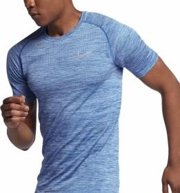 Nike Dri-FIT Knit Laufshirt kurzarm hydrogen blue (Herren) (833562-466)
