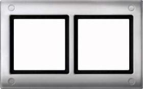 Merten Aquadesign Rahmen mit Verschraubung 2fach, aluminium (401260)