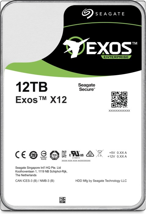 Seagate Enterprise Capacity 3.5 HDD 12TB, 512e, SATA 6Gb/s (ST12000NM0007)