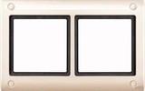 Merten Aquadesign Rahmen mit Verschraubung 2fach, weiß (401244)