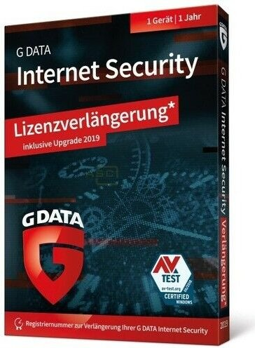 GData Software InternetSecurity 2019, 1 User, 1 year, Update (German) (PC)  (C1902UPBOX12001)