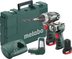 Metabo PowerMaxx BS Basic set cordless screw driller incl. case + 2 Batteries 2.0Ah + cordless lamp + Accessories (600080530)