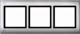 Merten Aquadesign Rahmen mit Verschraubung 3fach, aluminium (401360)