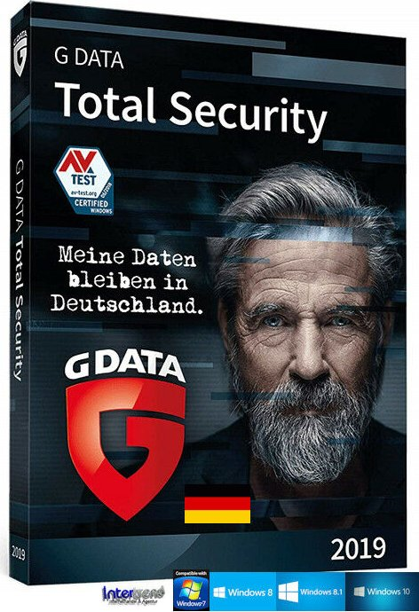 GData Software total Security 2019, 3 User, 1 year (German) (PC