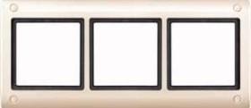 Merten Aquadesign Rahmen mit Verschraubung 3fach, weiß (401344)