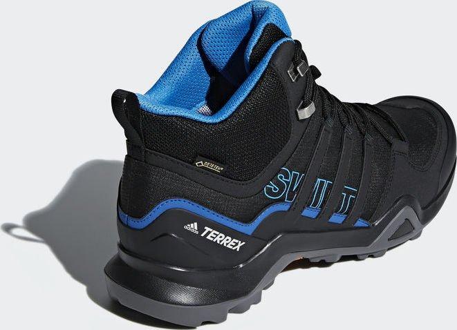 adidas Terrex Swift R2 mid GTX core black bright blue (men) (AC7771)  starting from £ 94.95 (2019)  4e1ad8fca