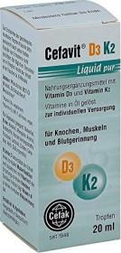 Cefak Cefavit D3 K2 liquid pure drops, 20ml