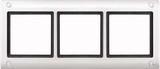 Merten Aquadesign Rahmen mit Verschraubung 3fach, polarweiß (401319)