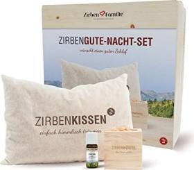 Zirbenfamilie Zirbendice + Zirbenöl + Zirbenpillow good-night set