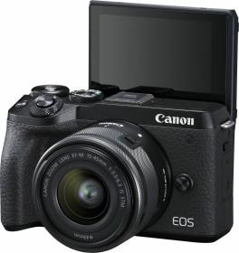 Canon EOS M6 Mark II schwarz mit Objektiv EF-M 15-45mm 3.5-6.3 IS STM (3611C012)