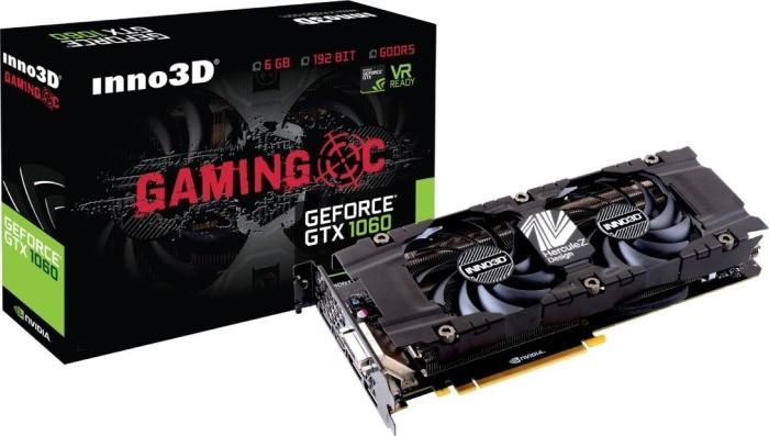 INNO3D GeForce GTX 1060 Gaming OC, 6GB GDDR5, DVI, HDMI, 3x DP (N1060-8SDN-N5GNX)