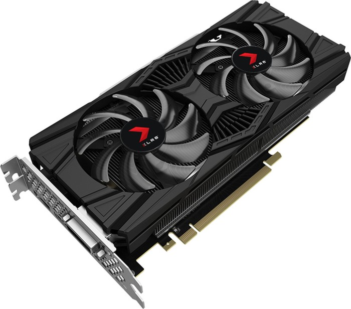 PNY GeForce RTX 2060 XLR8 Gaming OC Twin Fan, 6GB GDDR6, DVI, HDMI, DP (VCG20606DFPPB-O)