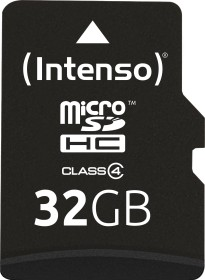 Intenso R21/W5 microSDHC 32GB Kit, Class 4 (3403480)