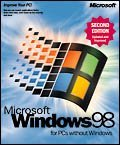 Microsoft: Windows 98 Second Edition OEM/DSP/SB (deutsch,englisch) (PC)
