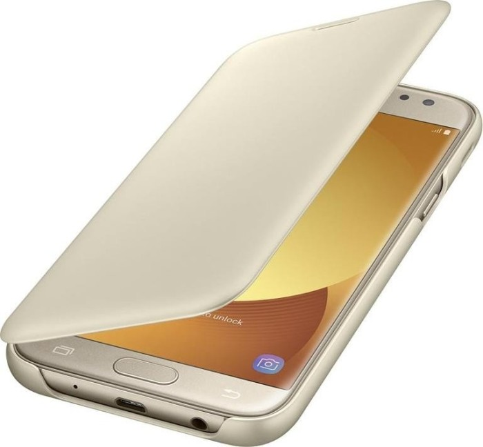 Samsung EF-WJ530CF Flip Wallet für Galaxy J5 (2017) gold