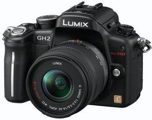 Panasonic Lumix DMC-GH2 schwarz mit Objektiv Lumix G Vario 14-42mm 3.5-5.6 OIS (DMC-GH2K)