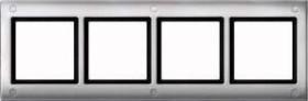 Merten Aquadesign Rahmen mit Verschraubung 4fach, aluminium (401460)