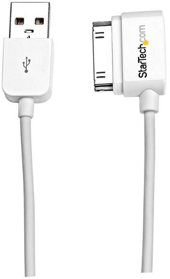 StarTech 30-Pin/USB-Adapterkabel, links gewinkelt/gerade, weiß 1m (USB2ADC1ML)