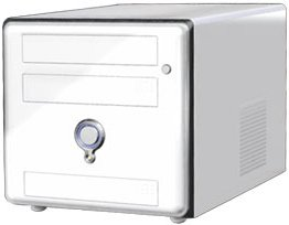 AOpen XC Cube EZ65 mini-Barebone white (socket 478/3.0GHz, dual PC3200 DDR) (95.EZ659.112)