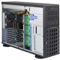 Supermicro 745BTQ-R1K28B-SQ schwarz, 4HE, 1200W redundant