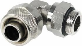 """Aquatuning 90° Schlauchanschluss 1/4"""" auf 13/10mm, vernickelt (62074)"""