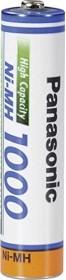 Panasonic High Capacity Micro AAA NiMH 1000mAh (BK-4HGAE/BF1)