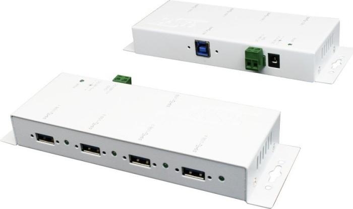 Exsys EX-1183HMVS-W Hi-Speed weiß, 4-port, USB 3.0