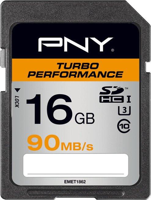 PNY Turbo Performance R90 SDHC 16GB, UHS-I U3, Class 10 (SD16GTURPER90-EF)