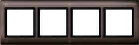 Merten Aquadesign Rahmen mit Verschraubung 4fach, dunkelbrasil (401415)