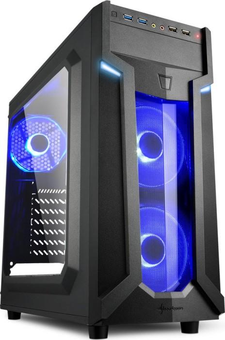 Sharkoon VG6-W blue, acrylic window