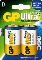 GP Batteries Ultra Plus Alkaline, Alkali, 1.5V, 2er-Pack (13AUP D)