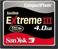 SanDisk R20/W20 CompactFlash Card [CF] Extreme III 4GB (SDCFX3-4096)