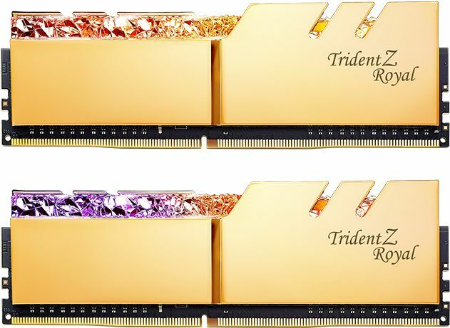 G.Skill Trident Z Royal gold DIMM kit 16GB, DDR4-3600, CL17-18-18-38 (F4-3600C17D-16GTRG)