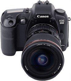 Canon EOS D60 black body