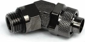 "Aquatuning 45° hose fitting 1/4"" on 13/10mm, black nickel-plated (62157)"