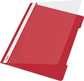 Leitz Standard Plastikhefter A4, rot, 25er-Pack (41910025#25)