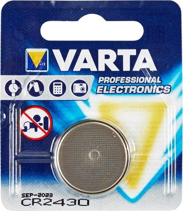 Varta CR2430, Knopfzelle, Lithium, 3V (6430-101-401) -- ©Globetrotter