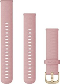Garmin quick release replacement bracelet 18mm silicone pink/gold 110-195mm (010-12932-03)
