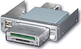 RaidSonic Icy Box IB-801 czytnik kart srebrny, USB 2.0 (20019)