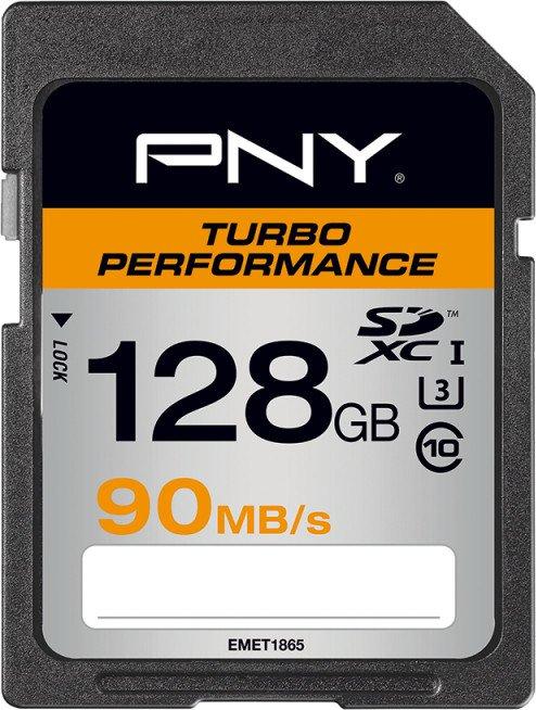 PNY Turbo Performance R90/W60 SDXC 128GB, UHS-I U3, Class 10 (SD128TURPER90-EF)