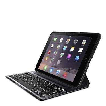 Belkin Qode Ultimate Pro, Schutzhülle und Tastatur für iPad Air 2, DE, schwarz (F5L176DEBLK)