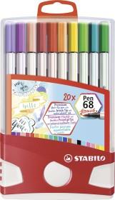 Stabilo Pen 68 brush case sorted, 20-pack (568/20-0211)