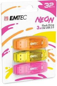 Emtec C410 Neon 32GB, USB-A 2.0, 3-pack (ECMMD32GC410P3NEO)