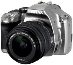 Pentax K-x silber mit Objektiv DA L 18-55mm (16389)