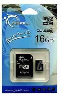 G.Skill microSDHC 16GB Kit, Class 6 (FF-TSDG16GA-C6)