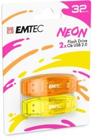Emtec C410 Neon 32GB, USB-A 2.0, 2-pack (ECMMD32GC410P2NEO)